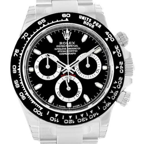 Photo of Rolex Cosmograph Daytona Black Dial Chronograph Watch 116500 Unworn