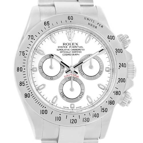 Photo of Rolex Cosmograph Daytona White Dial Stainless Steel Mens Watch 116520