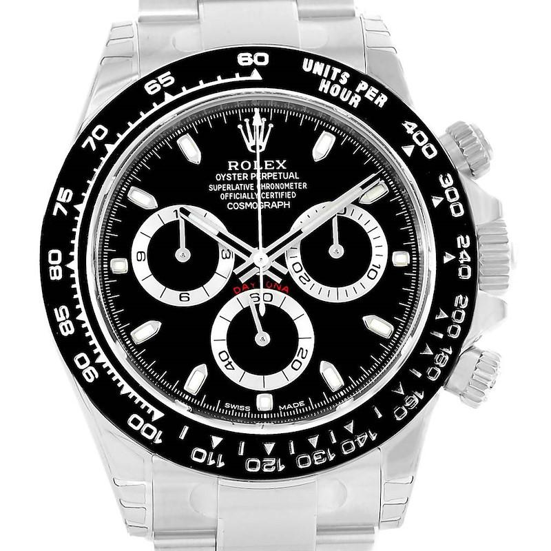 Rolex Cosmograph Daytona Black Dial Chronograph Watch 116500 Unworn SwissWatchExpo