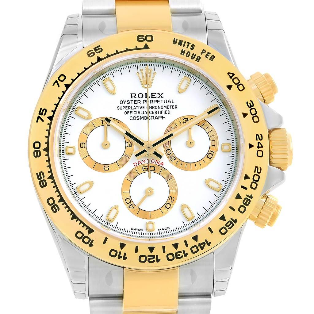 gold diamond brown strap rolex daytona white chest watch yellow leather watches cosmograph