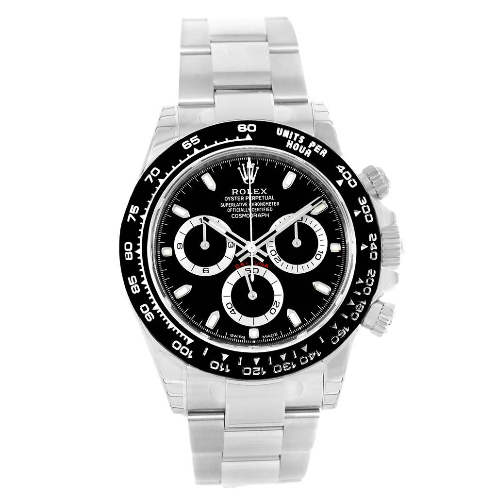 rolex cosmograph daytona black dial chronograph watch. Black Bedroom Furniture Sets. Home Design Ideas
