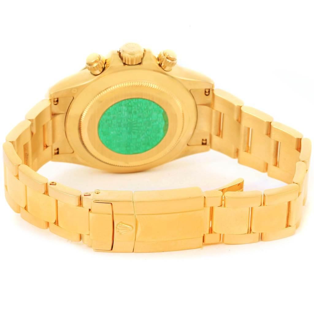 Rolex Cosmograph Daytona 18K Yellow Gold Black Dial Mens Watch 116528 SwissWatchExpo