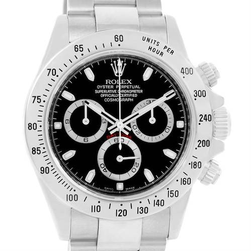 Photo of Rolex Cosmograph Daytona Stainless Steel Black Dial Mens Watch 116520