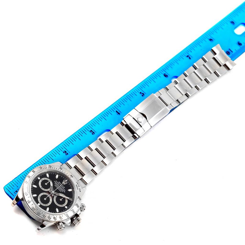 Rolex Cosmograph Daytona 40mm Black Dial Chronograph Mens Watch 116520 SwissWatchExpo