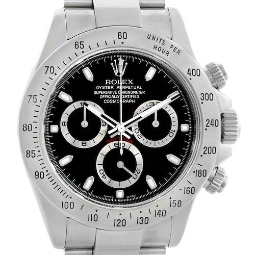 Photo of Rolex Cosmograph Daytona 40mm Black Dial Chronograph Mens Watch 116520