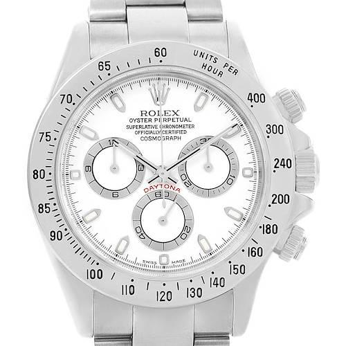 Photo of Rolex Cosmograph Daytona White Dial Chronograph Watch 116520 Box Card