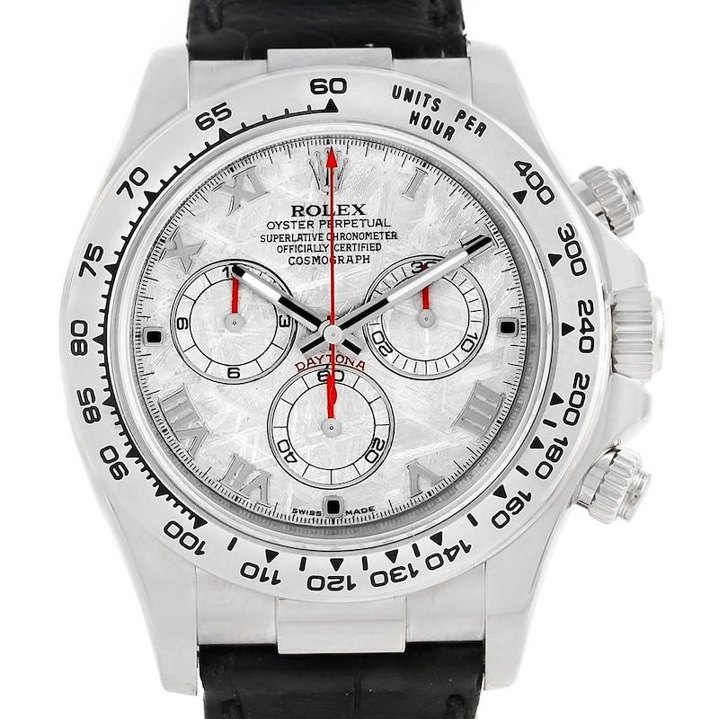 Rolex Cosmograph Daytona White Gold Meteorite Dial Mens Watch 116519 SwissWatchExpo