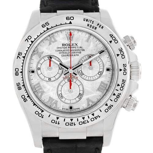 Photo of Rolex Cosmograph Daytona White Gold Meteorite Dial Mens Watch 116519