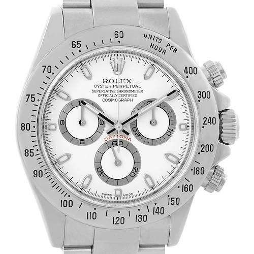 Photo of Rolex Cosmograph Daytona White Dial Chronograph Watch 116520