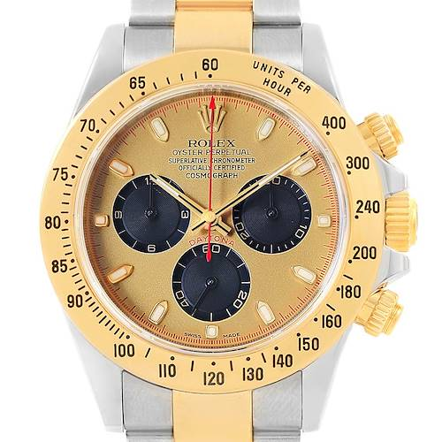Photo of Rolex Daytona Steel Yellow Gold Paul Newman Dial Mens Watch 116523
