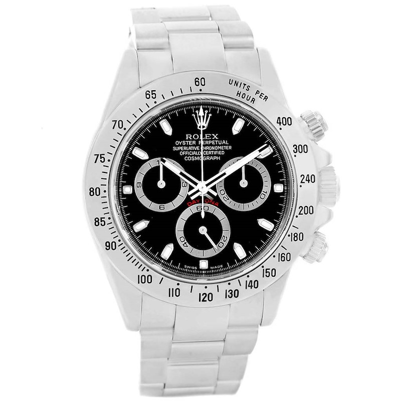 Rolex Cosmograph Daytona 40mm Black Dial Chronograph Mens Watch 116520 SwissWatchExpo