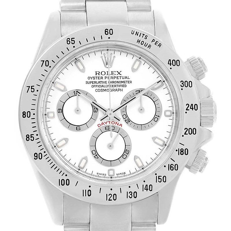 Rolex Cosmograph Daytona White Dial Chronograph Mens Watch 116520 SwissWatchExpo