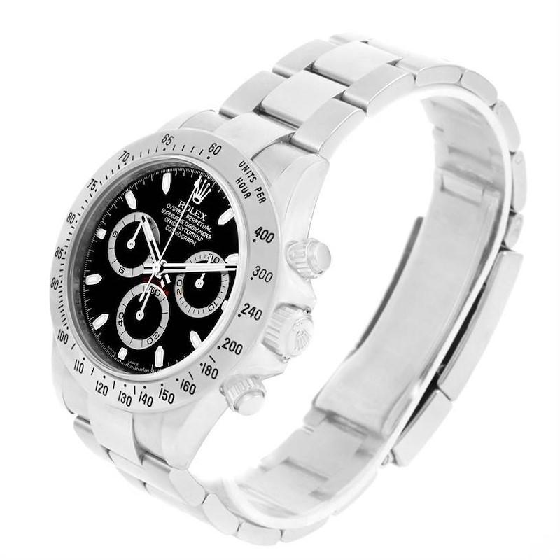 Rolex Cosmograph Daytona Stainless Steel Black Dial Mens Watch 116520 SwissWatchExpo