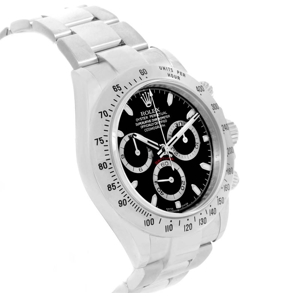 Rolex Cosmograph Daytona Black Dial Chronograph Mens Watch 116520 SwissWatchExpo