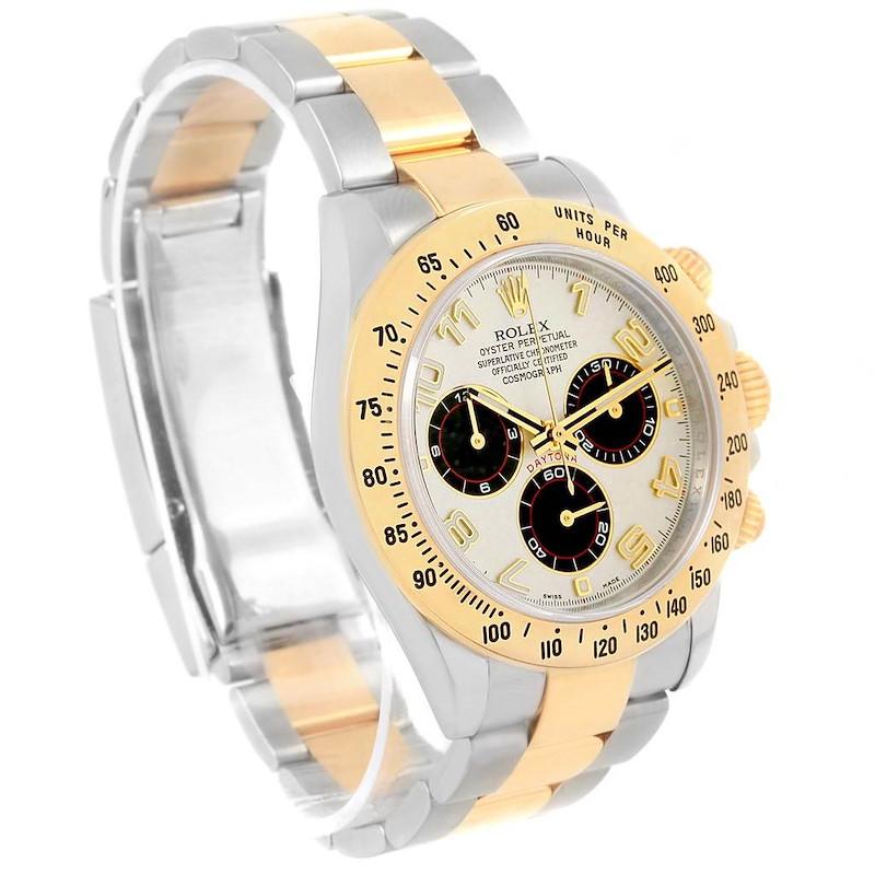 Rolex Daytona Panda Dial Steel Yellow Gold Watch 116523 Box Papers SwissWatchExpo