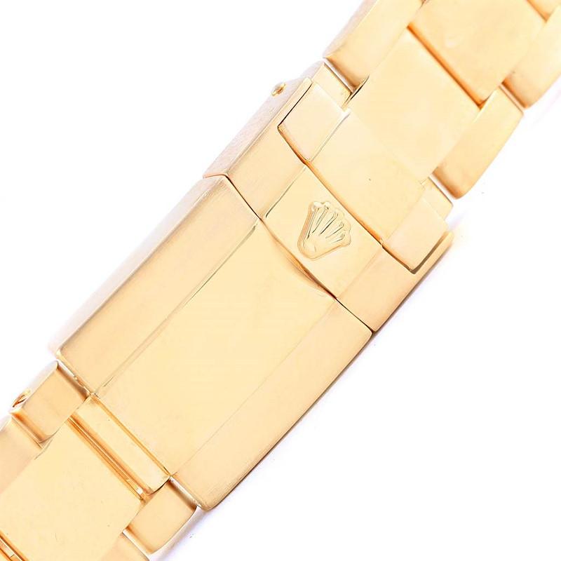 Rolex Daytona 18K Yellow Gold Black Dial Mens Watch 116528 Box Papers SwissWatchExpo