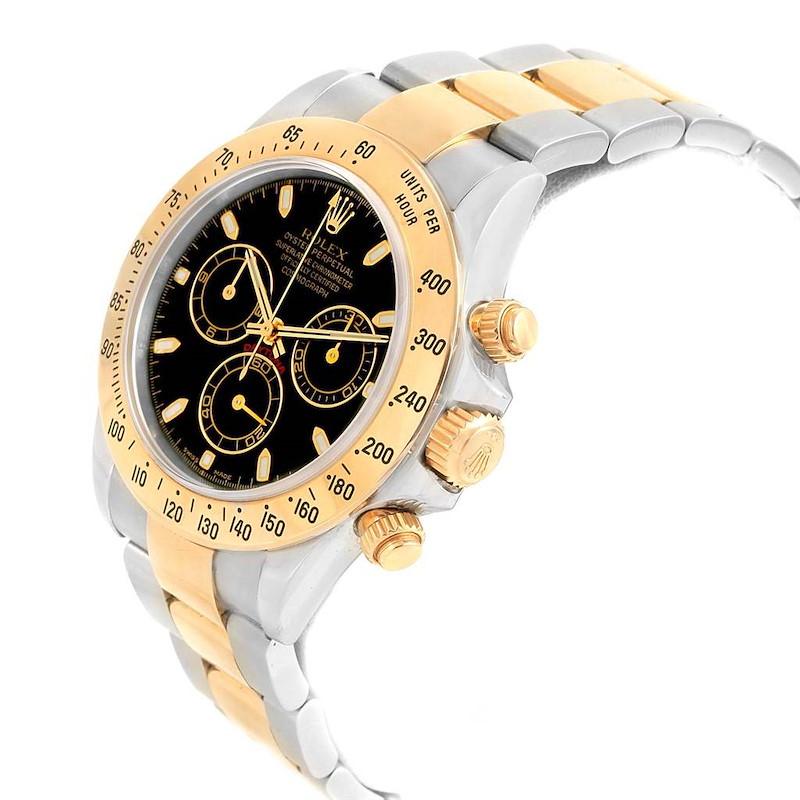Rolex Daytona Steel 18K Yellow Gold Black Dial Mens Watch 116523 SwissWatchExpo