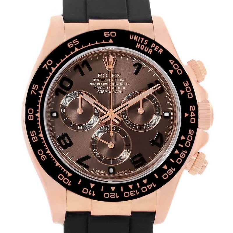 Rolex Cosmograph Daytona 18K Rose Gold Everose Watch 116515 Unworn SwissWatchExpo