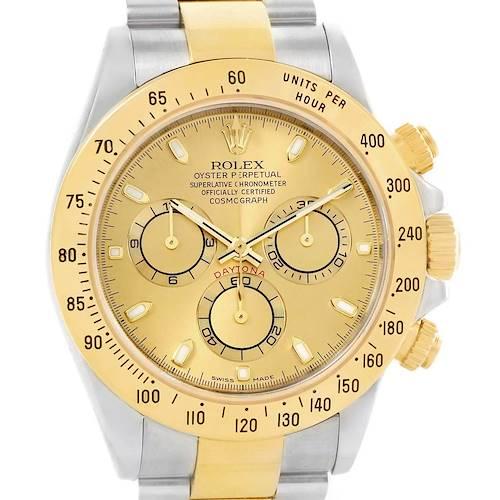 Photo of Rolex Daytona Steel 18K Yellow Gold Chronograph Dial Watch 116523