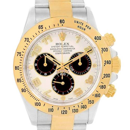 Photo of Rolex Daytona Panda Dial Steel Yellow Gold Watch 116523 Box