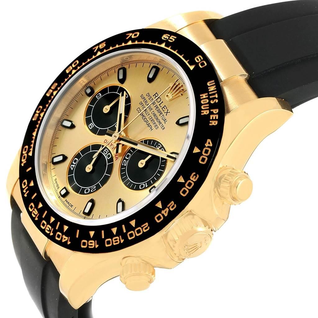 480ffbfe797 ... 17672P Rolex Daytona Yellow Gold Ceramic Bezel Rubber Strap Watch  116518 Unworn SwissWatchExpo ...