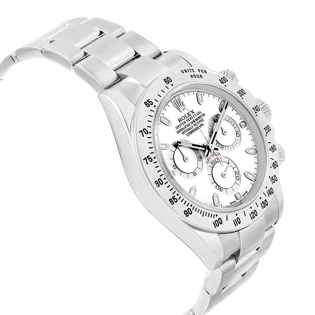 17767 Rolex Cosmograph Daytona White Dial Chronograph Mens Watch 116520 SwissWatchExpo