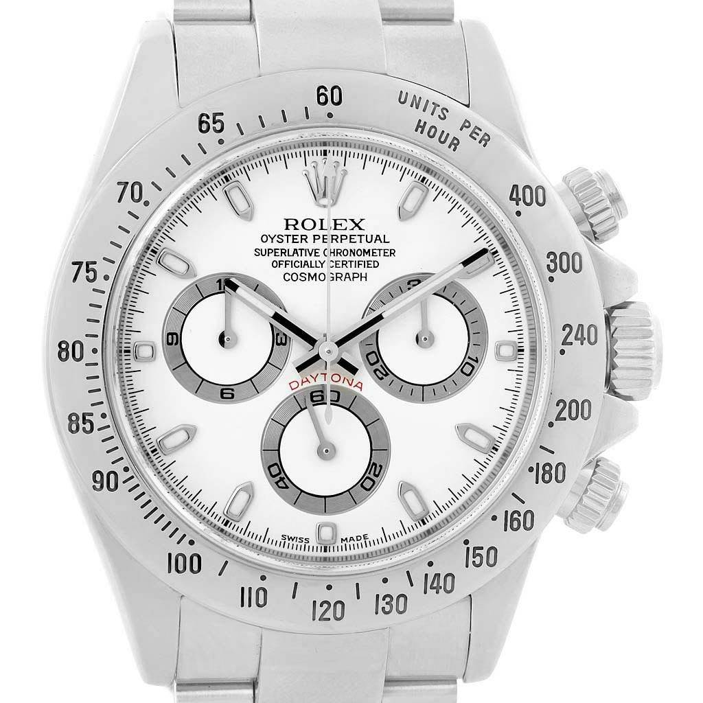 Rolex Cosmograph Daytona White Dial Chronograph Steel Watch 116520