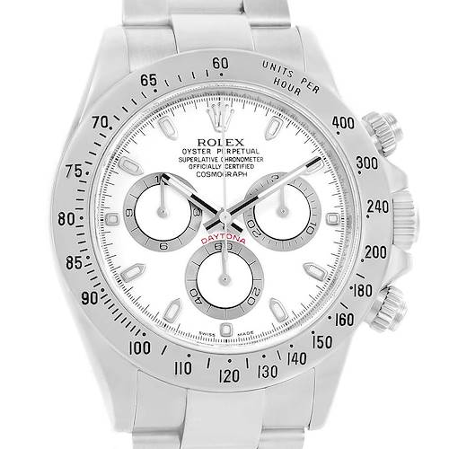 Photo of Rolex Cosmograph Daytona Chronograph Steel Mens Watch 116520