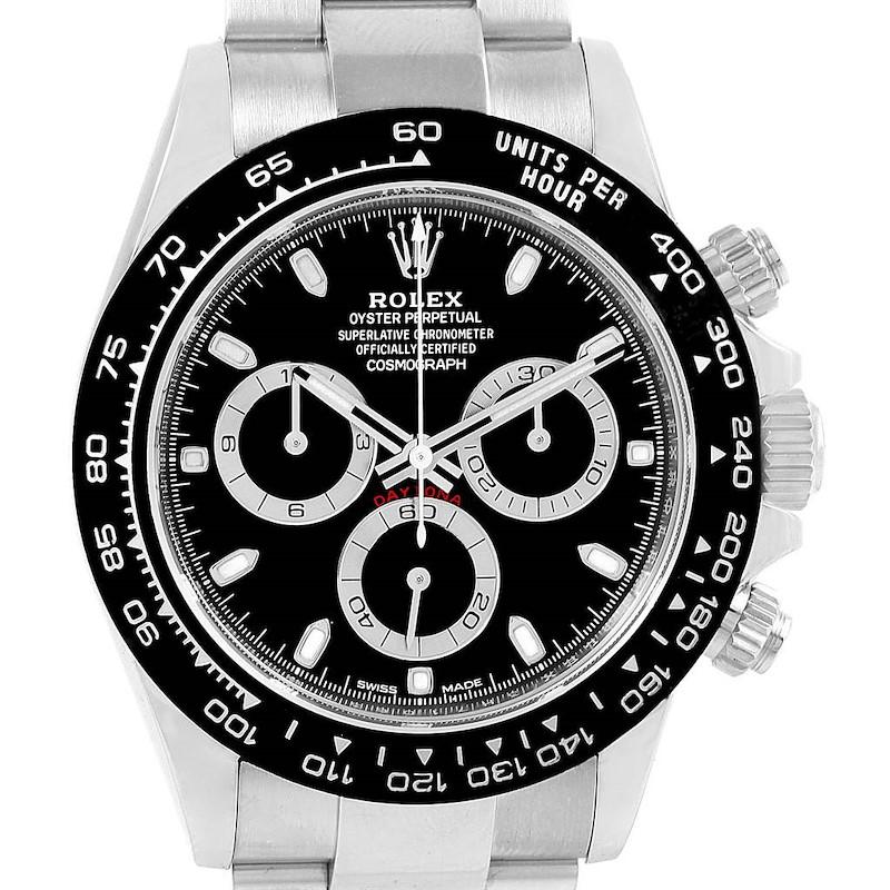Rolex Daytona Black Dial Chronograph Mens Watch 116500 Box Papers SwissWatchExpo