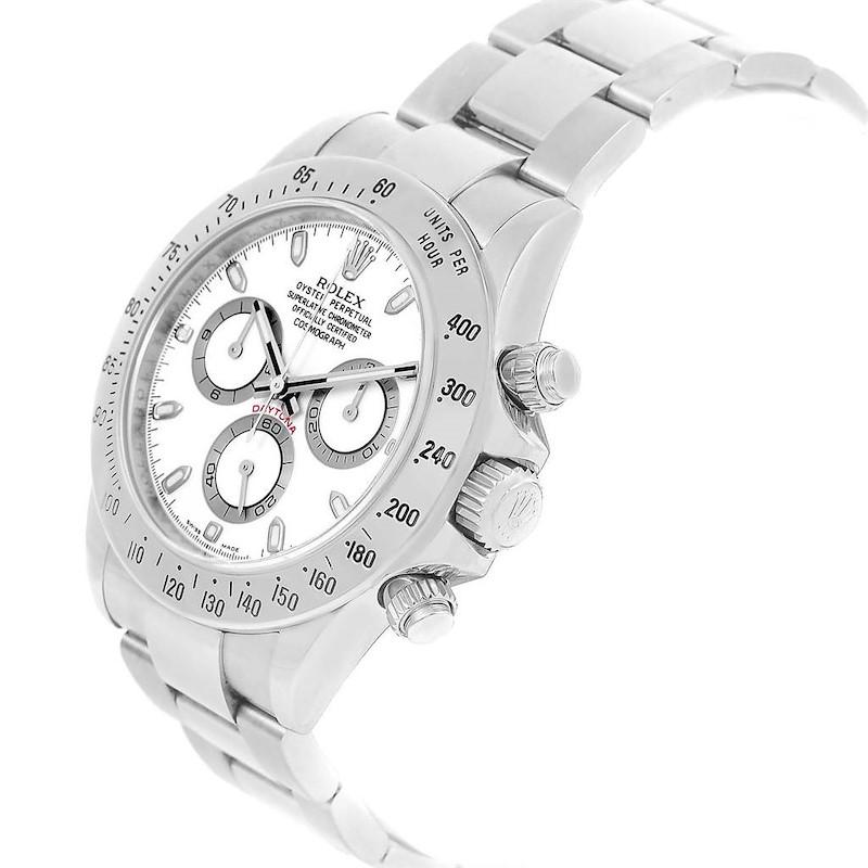 Rolex Daytona White Dial Chronograph Stainless Steel Watch 116520 SwissWatchExpo