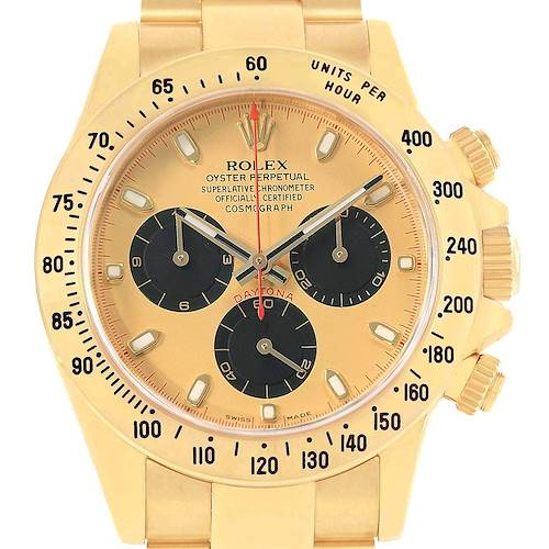 Photo of Rolex Daytona Yellow Gold Paul Newman Dial Mens Watch 116528 Box Papers