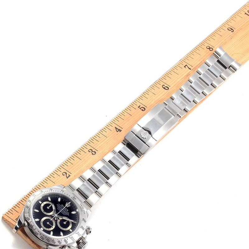 Rolex Daytona Black Dial Chronograph Steel Watch 116520 Box Card SwissWatchExpo