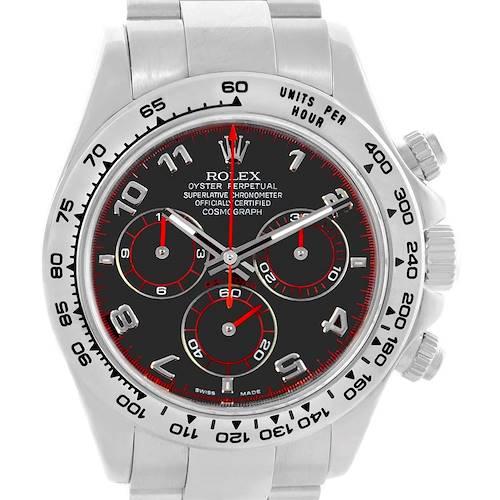 Photo of Rolex Cosmograph Daytona 18K White Gold Black Dial Mens Watch 116509