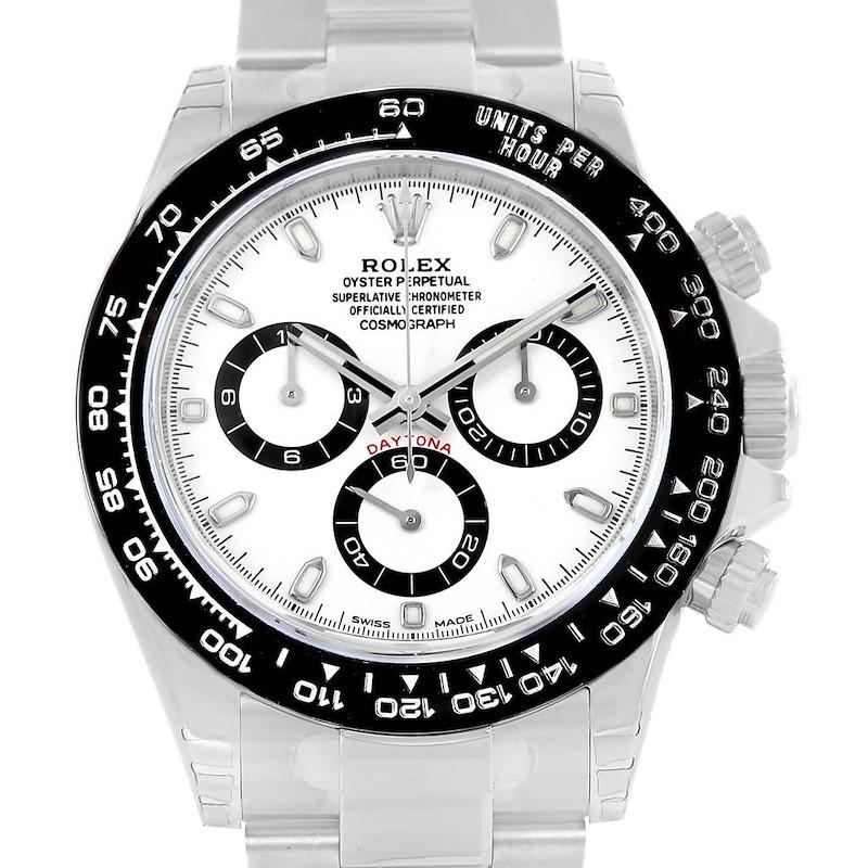 Rolex Cosmograph Daytona White Dial Chronograph Watch 116500 Unworn SwissWatchExpo