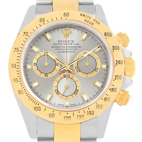 Photo of Rolex Daytona Steel 18K Yellow Gold Slate Dial Watch 116523