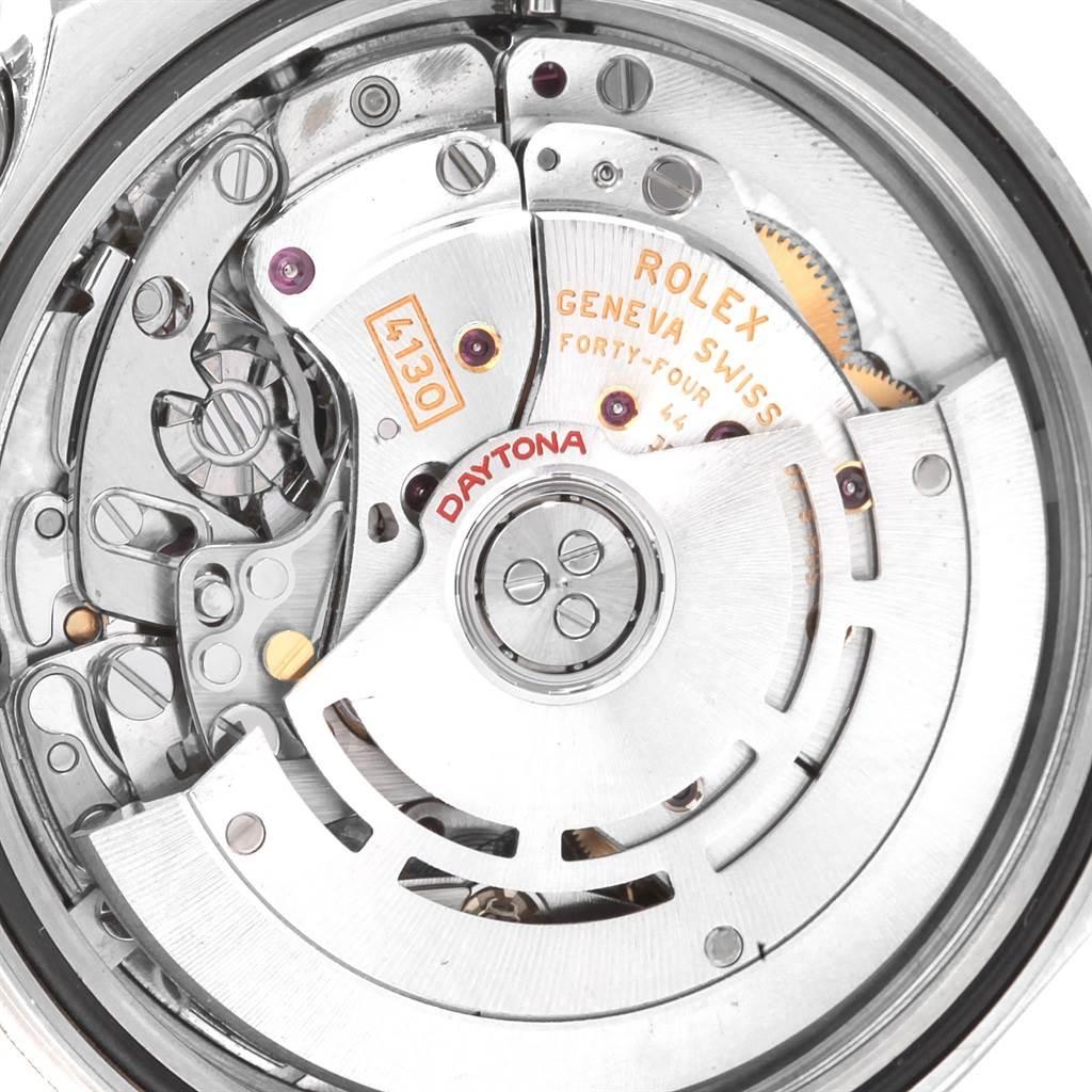 Rolex Daytona White Dial Chronograph Steel Mens Watch 116520 Box Card SwissWatchExpo