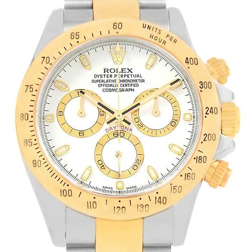 Photo of Rolex Daytona Steel Yellow Gold White Dial Automatic Mens Watch 116523