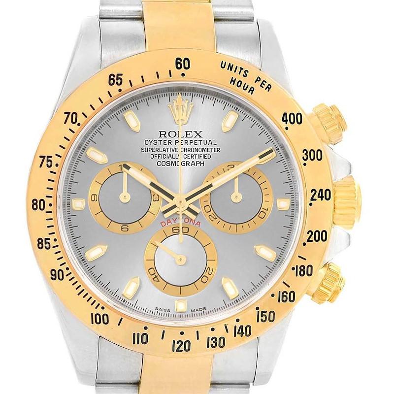 Rolex Daytona Steel Yellow Gold Slate Dial Automatic Mens Watch 116523 SwissWatchExpo