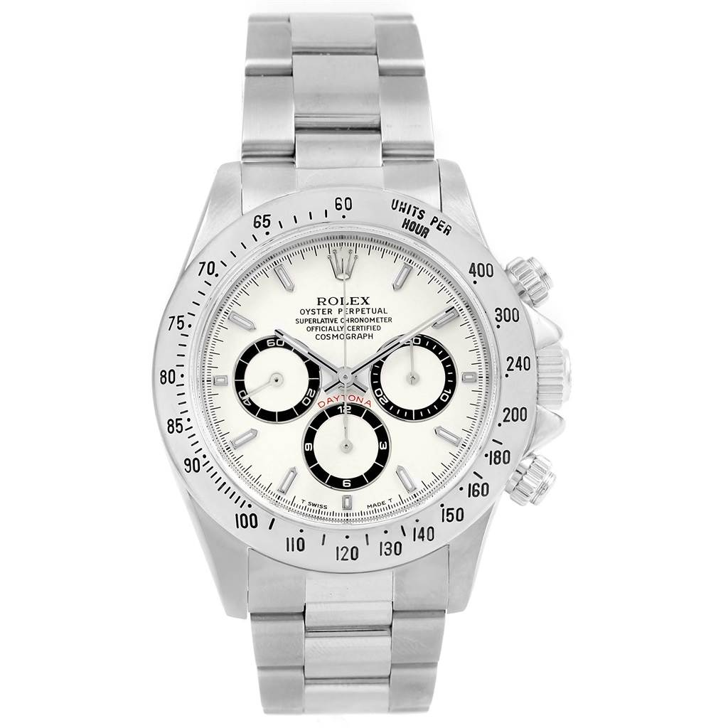Rolex Cosmograph Daytona White Dial Zenith Movement Watch 16520 SwissWatchExpo