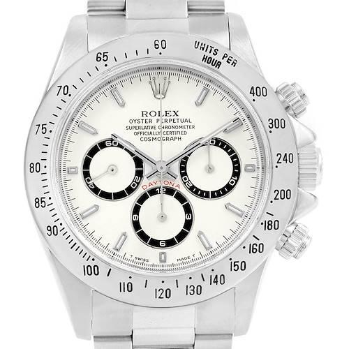 Photo of Rolex Cosmograph Daytona White Dial Zenith Movement Watch 16520