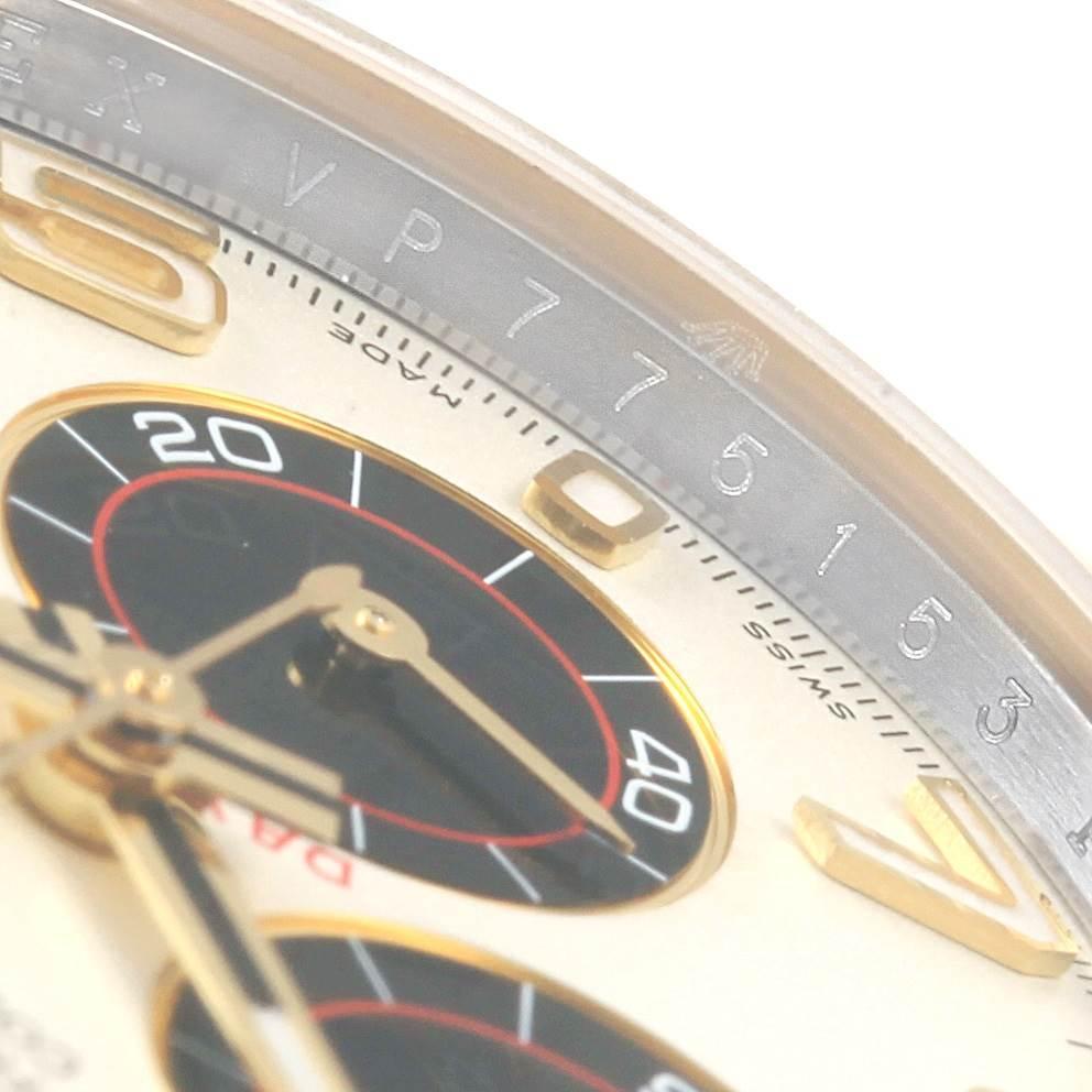 Rolex Daytona Panda Dial Steel Yellow Gold Mens Watch 116523 Box Card SwissWatchExpo