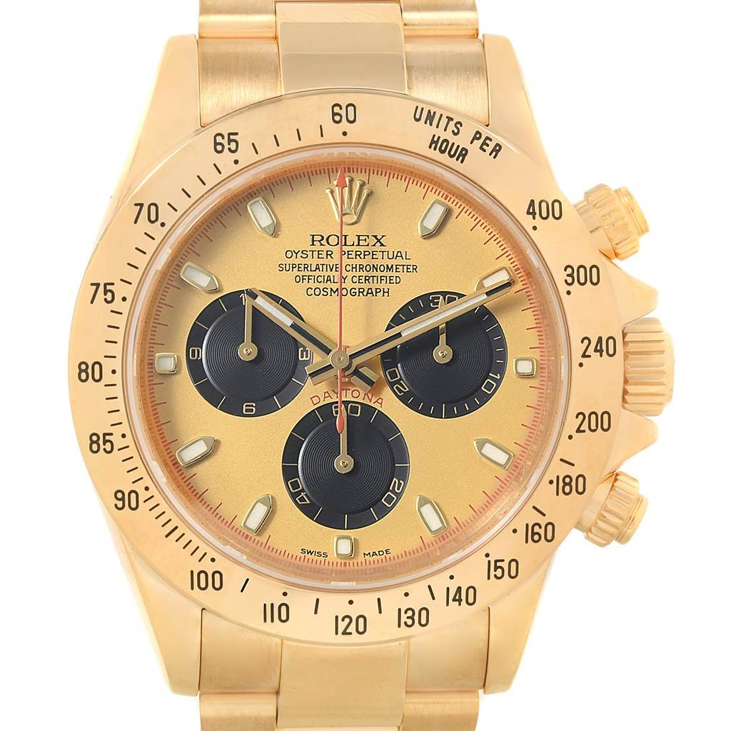 20944 Rolex Daytona Yellow Gold Paul Newman Dial Mens Watch 116528 SwissWatchExpo