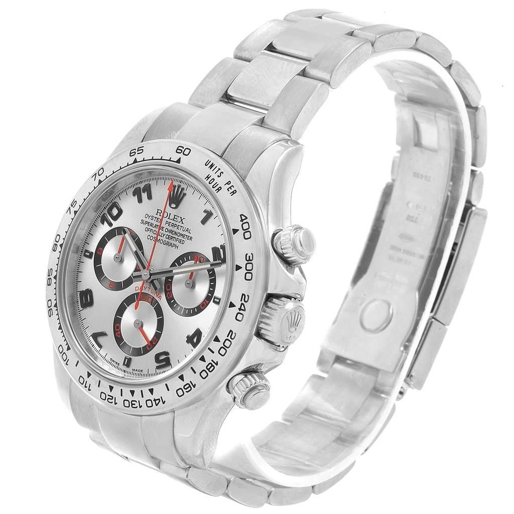Rolex Cosmograph Daytona 18K White Gold Silver Dial Mens Watch 116509 SwissWatchExpo