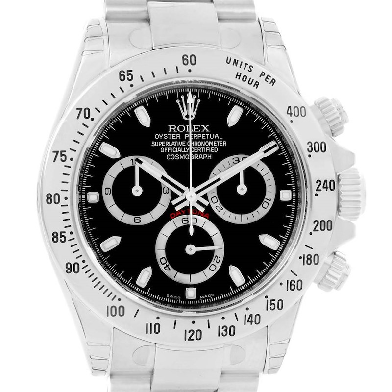 Rolex Daytona Black Dial Chronograph Steel Watch 116520 Unworn SwissWatchExpo
