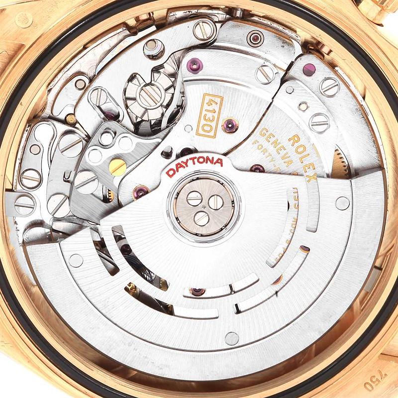 Rolex Daytona Yellow Gold Black Dial Mens Watch 116518 Box Card SwissWatchExpo