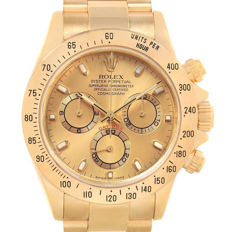 Rolex Cosmograph Daytona Yellow Gold Chronograph Watch 116528 SwissWatchExpo
