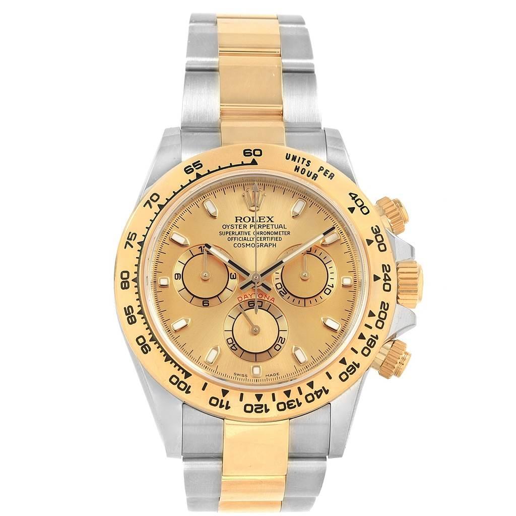 Rolex Cosmograph Daytona Steel Yellow Gold Mens Watch 116503