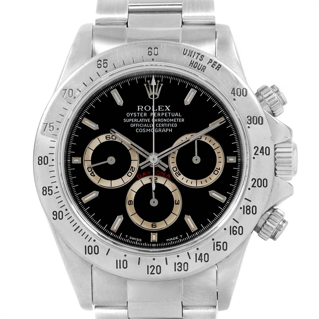 ea18bb063bd ... 21334 Rolex Cosmograph Daytona Black Dial Zenith Movement Watch 16520  SwissWatchExpo ...