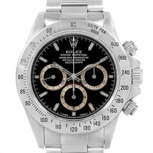 Photo of Rolex Cosmograph Daytona Black Dial Zenith Movement Watch 16520