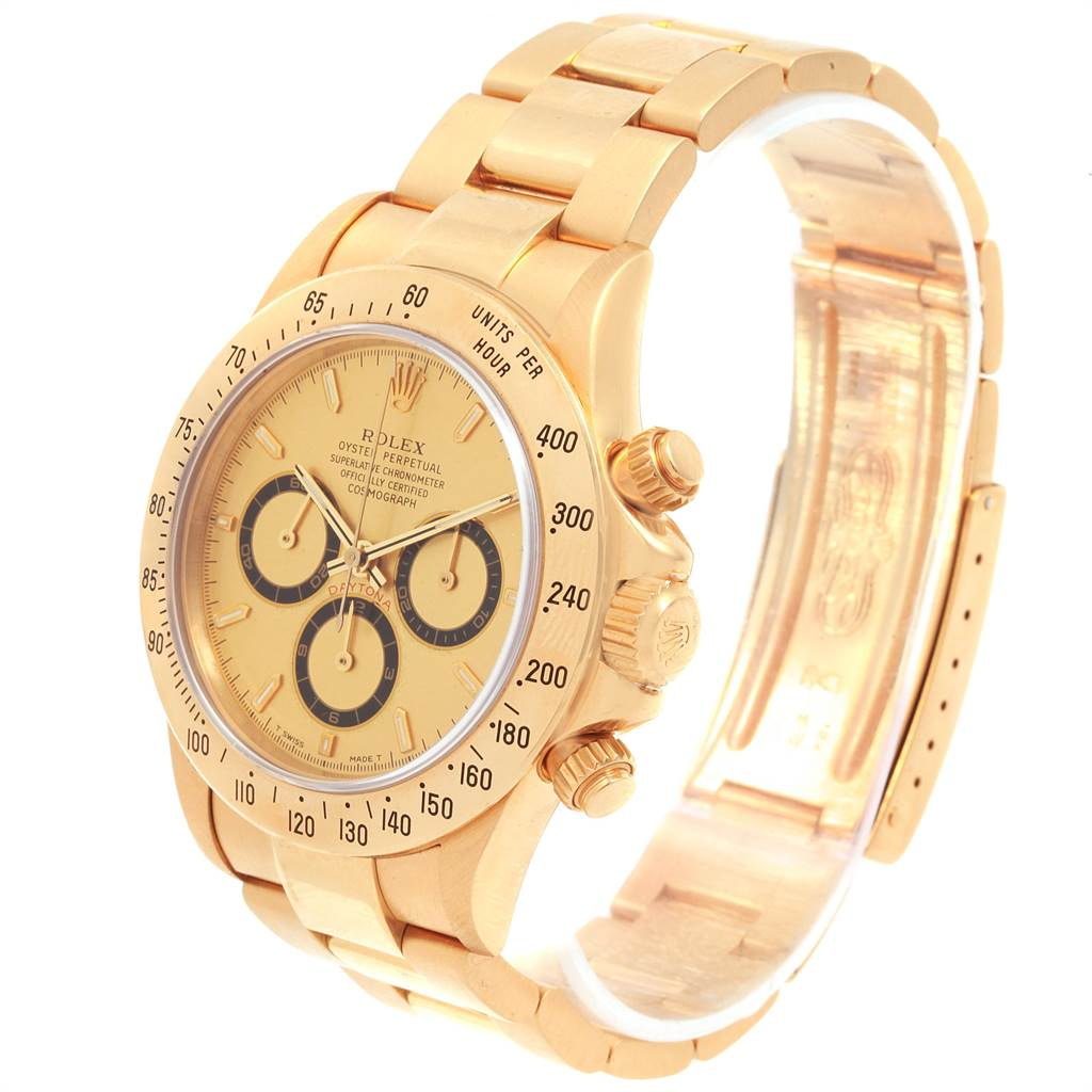 21684 Rolex Cosmograph Daytona Yellow Gold Chronograph Mens Watch 16528 SwissWatchExpo